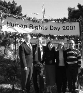 December 10, 2001 Dedication ceremony